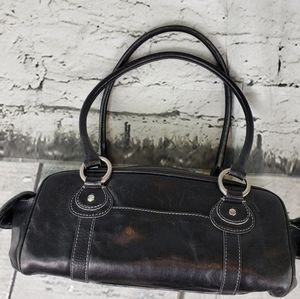 Hype Black Leather Handbag